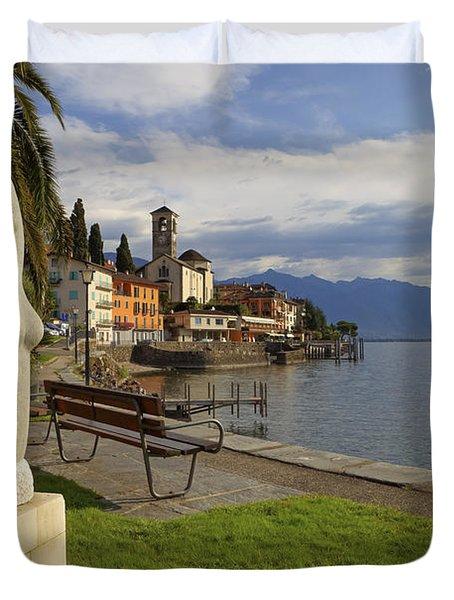 Brissago - Ticino Duvet Cover by Joana Kruse
