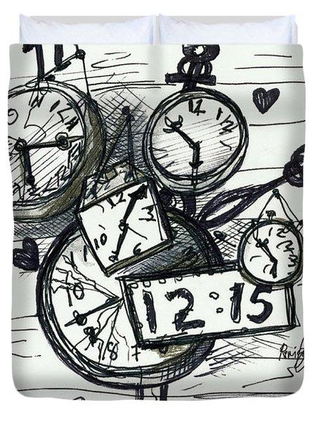 Broken Clocks Duvet Cover