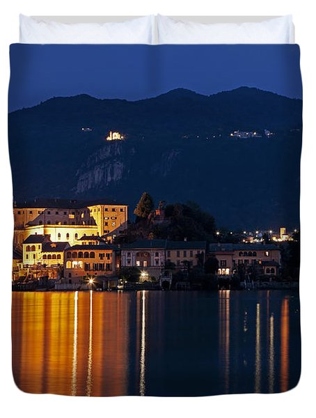 Island Of San Giulio Duvet Cover by Joana Kruse