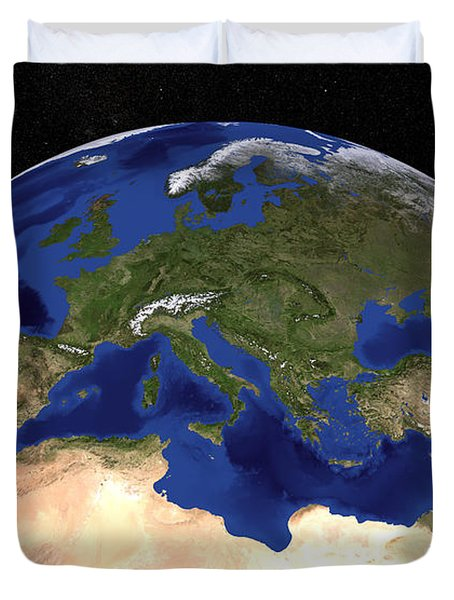 The Blue Marble Next Generation Earth Duvet Cover by Stocktrek Images