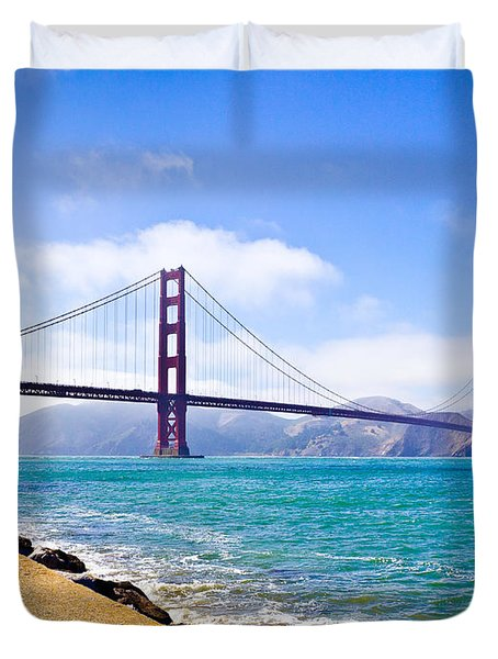 75 Years - Golden Gate - San Francisco Duvet Cover
