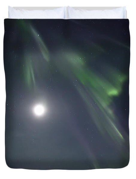 Aurora Borealis Or Northern Lights Duvet Cover by Robert Postma