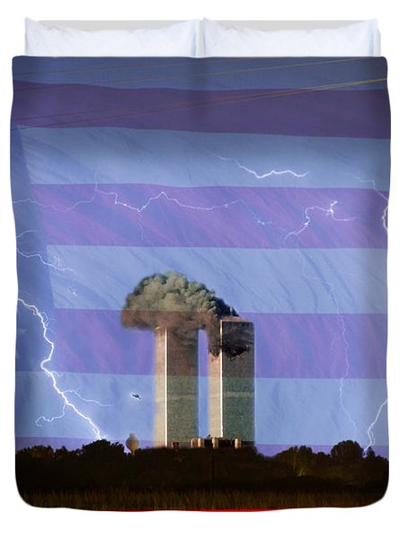 9-11 We Will Never Forget 2011 Duvet Cover by James BO  Insogna