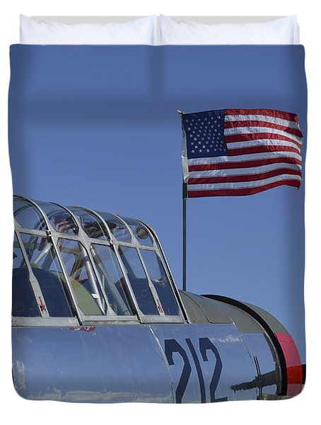A Bt-13 Valiant Trainer Aircraft Duvet Cover by Stocktrek Images