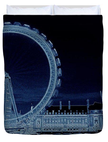 London Eye Art Duvet Cover by David Pyatt