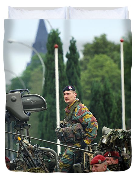Members Of A Recce Or Scout Team Duvet Cover by Luc De Jaeger