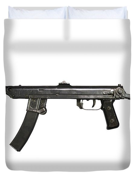 A 7.62mm Type 54 Machine Gun, A Variant Duvet Cover by Andrew Chittock