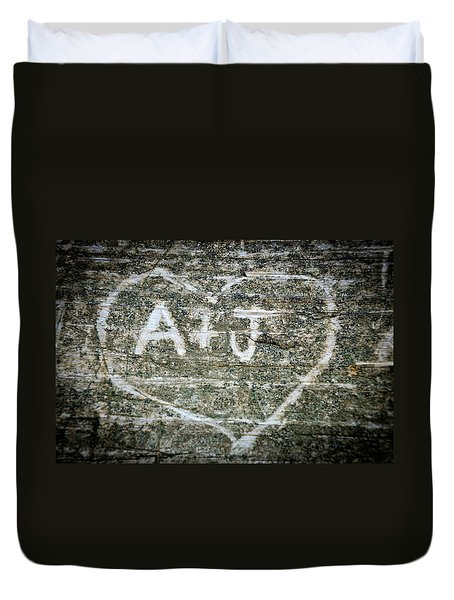 A And J Duvet Cover by Julia Wilcox