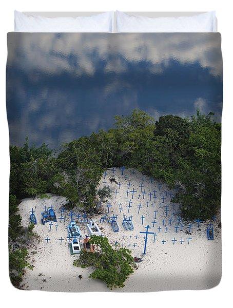 A Beach Cemetery Beside The Rio Negro Duvet Cover by Bobby Haas