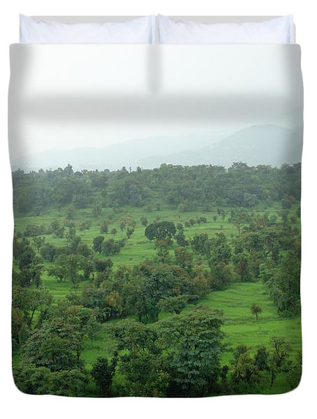 A Beautiful Green Countryside Duvet Cover