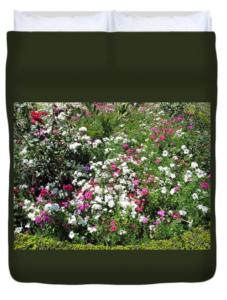 A Bed Of Beautiful Different Color Flowers Duvet Cover by Ashish Agarwal