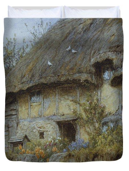 A Berkshire Cottage  Duvet Cover by Helen Allingham