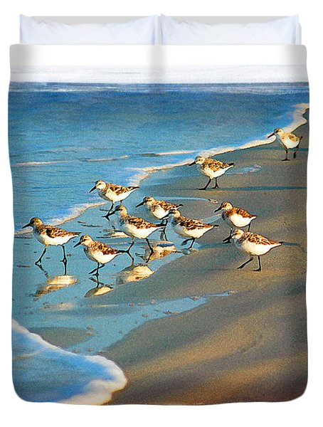 A Bevy Of Pipers Duvet Cover