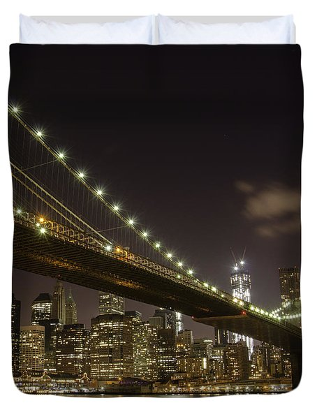 A Brooklyn View Duvet Cover by Alex Ching
