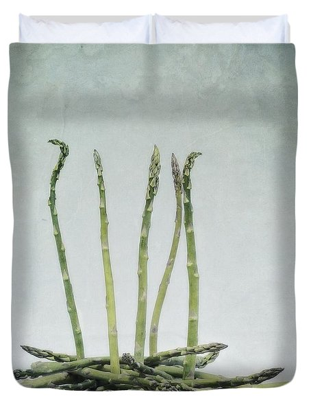 A Bunch Of Asparagus Duvet Cover by Priska Wettstein