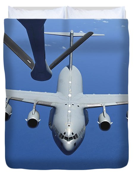 A C-17 Globemaster IIi Approaches Duvet Cover by Stocktrek Images