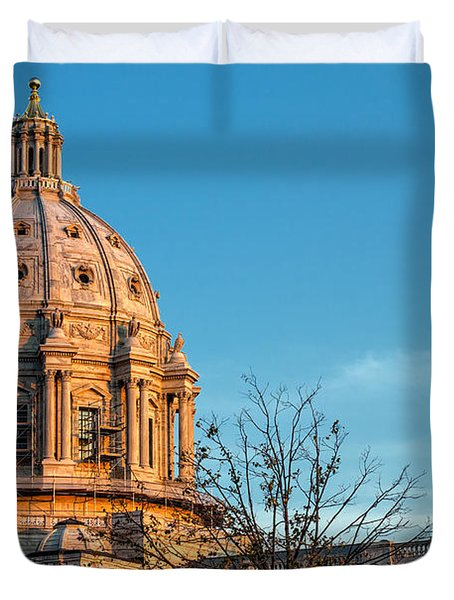 Duvet Cover featuring the photograph A Capitol Evening by Tom Gort