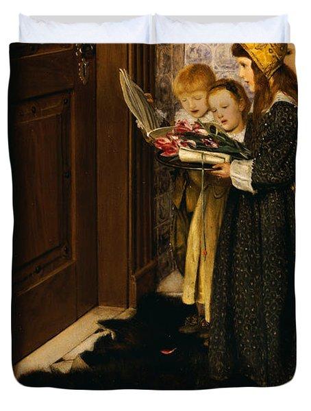 A Carol Duvet Cover by Laura Theresa Alma-Tadema