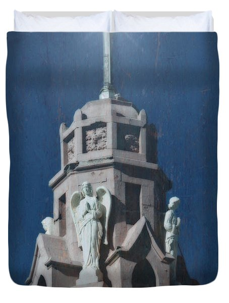 A Church Tower Duvet Cover