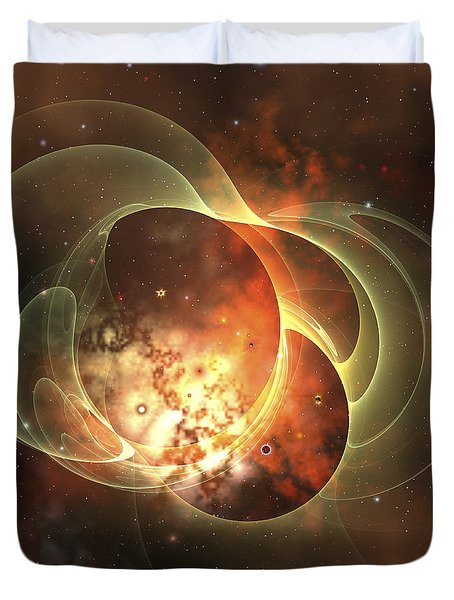 A Constellation Sits Inside Encircling Duvet Cover by Corey Ford