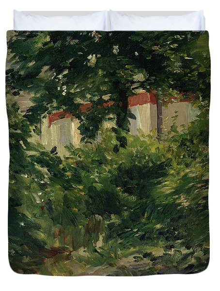A Corner Of The Garden In Rueil Duvet Cover by Edouard Manet