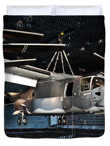 A Cv-22 Osprey Hangs In A Anechoic Duvet Cover by Stocktrek Images