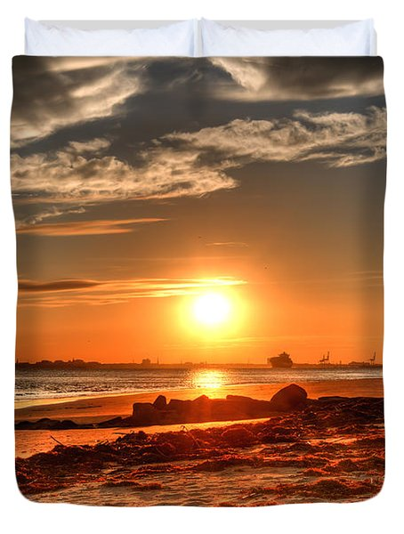 A Day Ends Over Charleston Duvet Cover