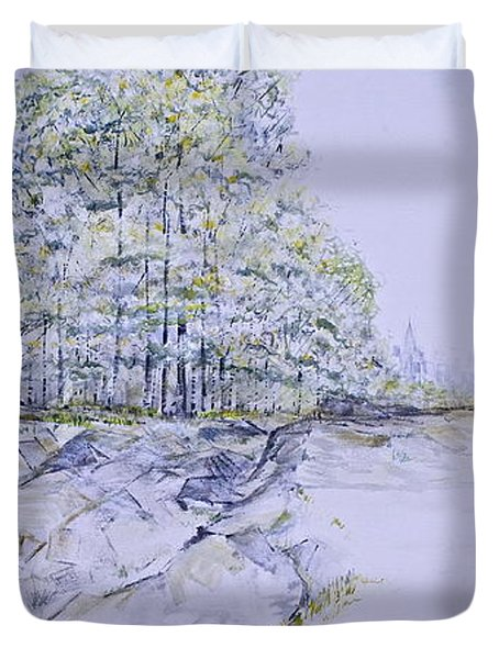 A Day In Central Park Duvet Cover