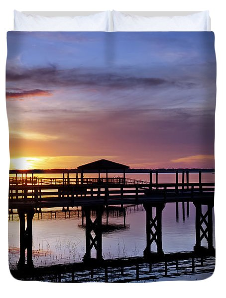 A December Sky Duvet Cover by Phill Doherty
