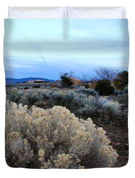 A Desert View After Sunset Duvet Cover
