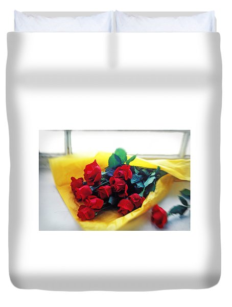 A Dozen Red Roses Duvet Cover by Garry Gay