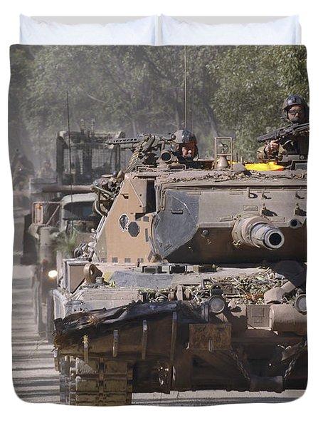 A German Designed Leopard As1 Gun Tank Duvet Cover by Stocktrek Images
