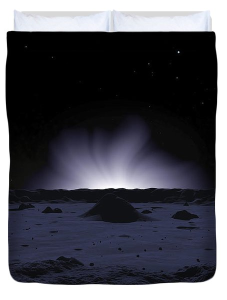 A Ghostly Coronal Light Reveals Duvet Cover