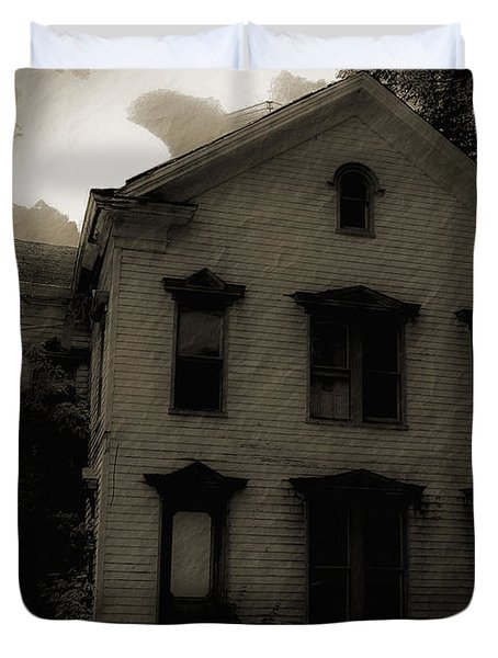 A Haunting Duvet Cover by DigiArt Diaries by Vicky B Fuller