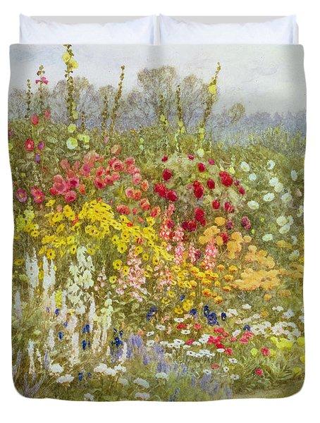 A Herbaceous Border Duvet Cover by Helen Allingham
