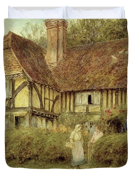 A Kentish Cottage Duvet Cover by Helen Allingham