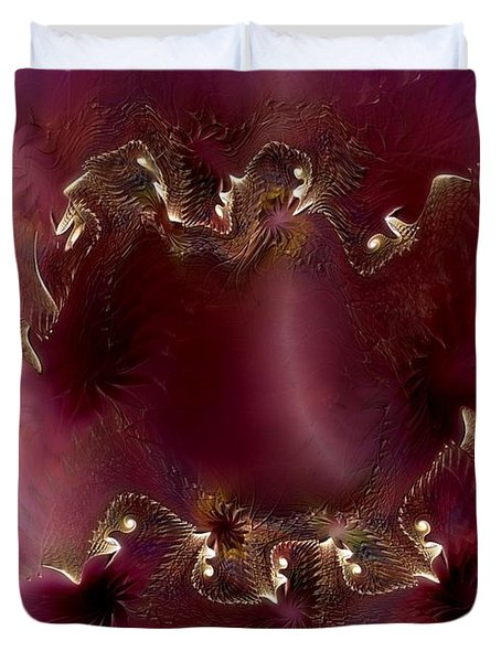 Duvet Cover featuring the digital art A Knowing Recognition by Casey Kotas