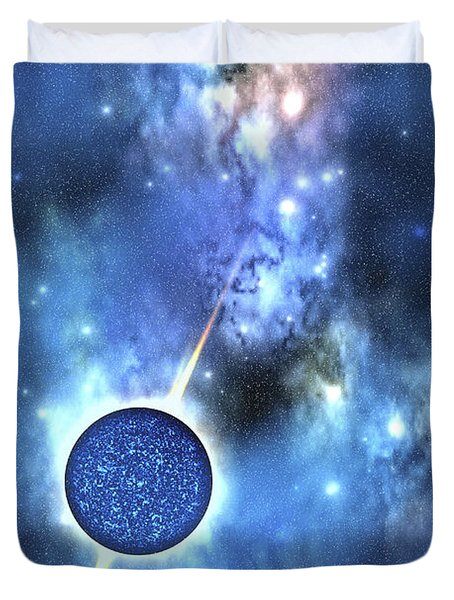 A Large Star With Concentrated Matter Duvet Cover by Corey Ford