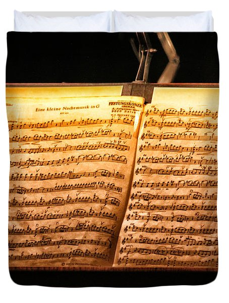 A Little Night Music Duvet Cover by Lauri Novak
