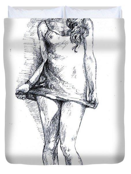 A Little Teasing  Duvet Cover by Alban Dizdari