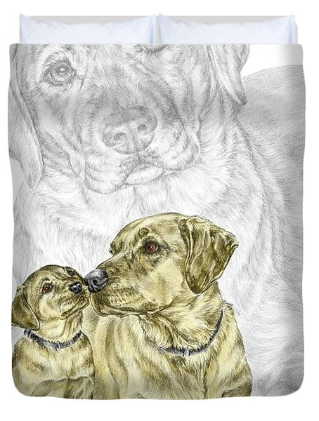A Mothers Love - Labrador Dog Print Color Tinted Duvet Cover