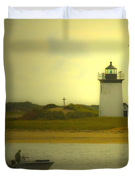 A New England Moment Duvet Cover by Karol Livote