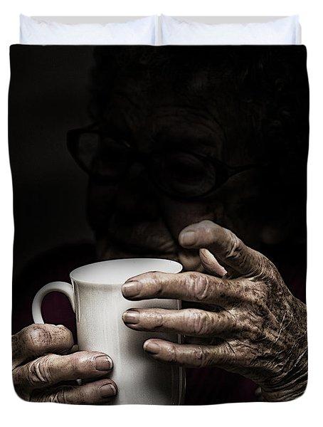 A Nice Cup Of Tea Duvet Cover by Avalon Fine Art Photography