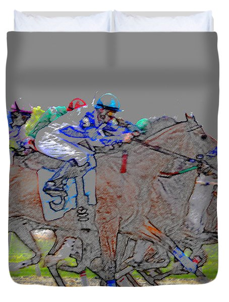 A Packed Field Duvet Cover by David Lee Thompson
