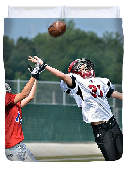 A Pass For The Touchdown Duvet Cover