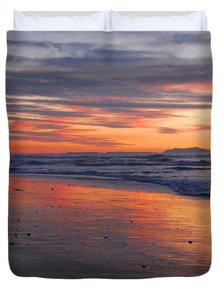Duvet Cover featuring the photograph A Passion For Purple by Lynn Bauer