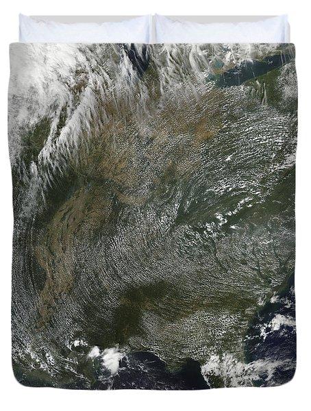 A Pinwheel-like Pattern Of High Duvet Cover by Stocktrek Images