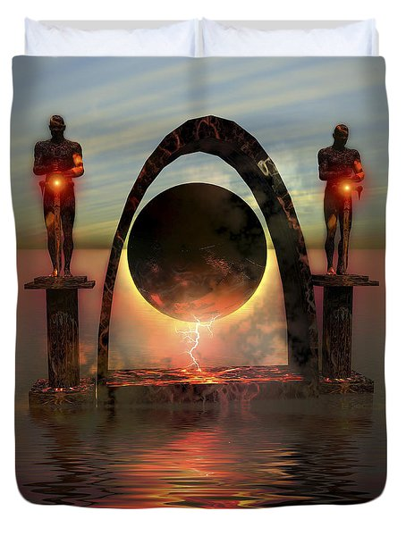 A Portal To Another Dimensional World Duvet Cover by Corey Ford