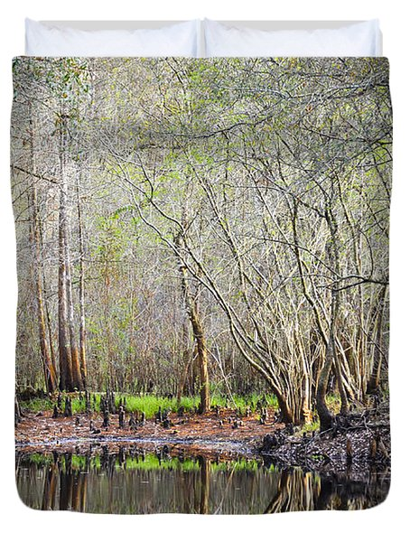 A Quiet Back Woods Place Duvet Cover by Carolyn Marshall
