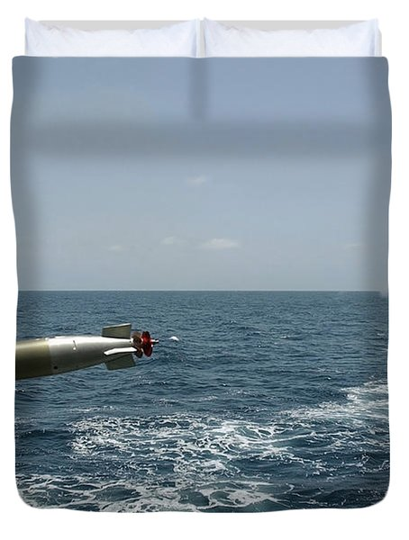 A Recoverable Mk-46 Exercise Torpedo Duvet Cover